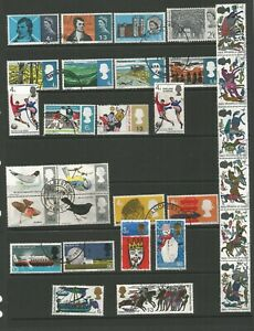 GB 1966 Complete Year Ordinary Issue SG 685 / 714 Fine Used