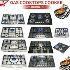 "23"" 30"" 34"" 4/5/6 Burners Built-In Stove Cooktops NG/LPG Gas Hobs Silver Black"