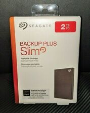 ✅ Seagate Backup Plus Slim 2TB Portable External USB Hard Drive - Unused