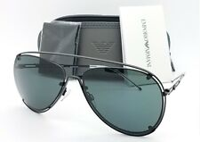 Emporio Armani sunglasses EA2073 300187 63mm Matte Black Grey AUTHENTIC Aviator