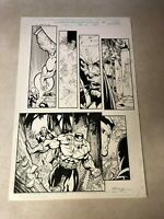 POWER MAN original art Marvel DEMONICUS Iron Fist HEROES HIRE Signed BART SEARS