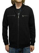Calvin Klein Men's Full Zip Fleece Jacket Black US Size M NWT