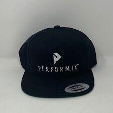 Performix Snapback Cap Hat Black The Classics Yupoong