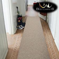 THICK CHEAP RUNNER HALLWAY PLAIN honey 837 CORRIDOR width 50-200 cm RUGS Carpets