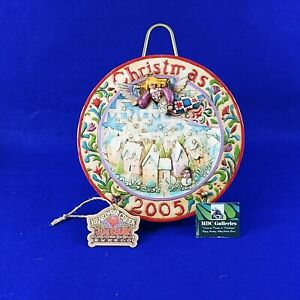 """Christmas Plate Jim Shore Heartwood Creek """"Sowing Joy"""" 2005 With Easel Stand"""