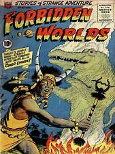 SUPER HERO COVER ACG BOOK FORBIDDEN WORLDS 45 VINTAGE COMIC POSTER PRINT 1390PY