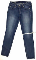 ANA Women's Jeans Size 28/6 W 28 x L 29.5 Skinny Denim Blue Dark Wash Mid-Rise
