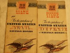 United States War Savings Bonds  and Defence 25 Cent Stamp Album