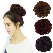 Women Synthetic Hair Flexible Scrunchie Wrap For Wave Curly Hair Bun Ponytail
