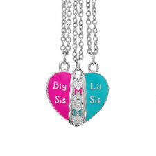 2017 Mother And Daughter Stitching  Necklace & Pendant - big sis mom lil