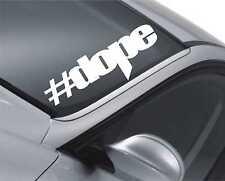 Hashtag DROGA PEGATINA DEL parabrisas coches de Drift Bajo JDM Bajada Dub M48