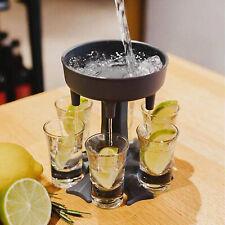 6 Shot Glass Dispenser Holder Pourer Xmas Drinking Game Liquor & Beer Dispensers