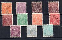 Australia 1918-23 fine used set KGV Heads SG56-66 WS19800