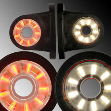 2x LED BEGRENZUNGSLEUCHTE UMRISSLEUCHTE LKW Rot/Weiß 78 mm  ***NEU***