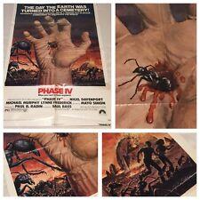 Original 1974 Phase IV CULT HORROR MOVIE THEATRE POSTER 27x41 GOTH PUNK ART 70's