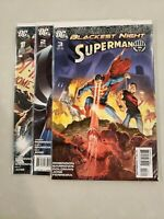 Blackest Night Superman #1 2 3 DC Comic 1st Print 2009 NM