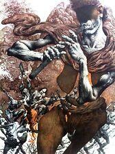 JULIAN JORDANOV , Large Free Style Print , Ex Libris , 1997 ,  Limited Ed. 2/10