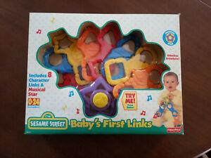 Fisher-Price Sesame Street Baby's First Links-NEW-1977