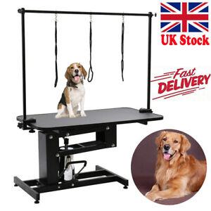 Large Heavy Duty Hydraulic Pet Dog Grooming Table Bath Station H Bar Arm Leash