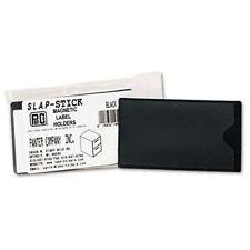 Panter Panco Slap-stick Magnetic Label Holders - Vinyl - 10 / Pack - Black,
