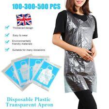 100-500X Disposable Adult Plastic Aprons Kitchen Waterproof Apron Gown Polythene