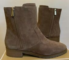 New - Women's Michael Kors Andi Flat Suede/Leather Taupe Booties Size 8.5
