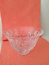 "Waterford Lead Crystal  Balmoral footed Bowl 7 3/4 x 5"" signed, Ireland"