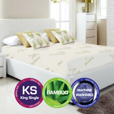 King Single Bamboo Cover Material Fully Fitted Mattress Protector/fitted Sheet