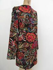 NWT!! inLUV Red Print Long Sleeve Women/Young Adult Sheath/Shift Dress-Size L