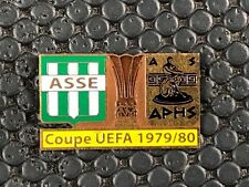 PINS BADGE FOOTBALL SOCCER ASSE SAINT ETIENNE VS ARIS SALONIQUE 1979 / 1980