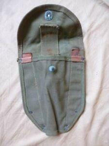 Housse de pelle US M-1943 première version datée 1943 toile kaki OD7 Gi's