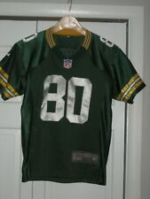 Green Bay Packers Football Jersey, Driver #80, Youth XL, Nike