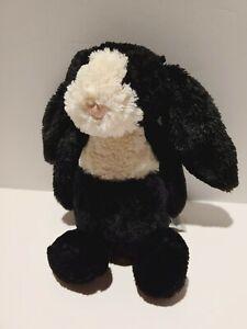 """Jellycat Small Dutch Bashful Bunny 12"""" Stuffed Rabbit Black and White - Rare"""