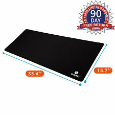 Oversized Gaming Mouse Pad Extended XXL Large Keyboard Mouse Mat Anti-Slip Black