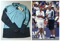 Vintage 1998 NIKE x AGASSI Tennis Jersey Shirt OG 1990's VNDS Deadstock Men's L