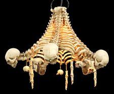 Tête de mort plafonnier - Squelette Lampe gothic fantasy Crâne déco tête de mort
