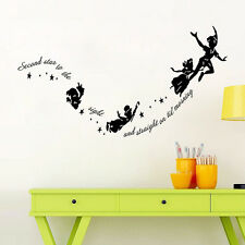 Wall Stickers Decal Peter Pan Fairy Vinyl Mural Home Bedroom Decor Removable^