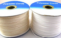 1.2mm White or Cream Polyester Roman Blind, Festoon or Curtain Cord