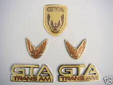 NEW 91-92 GTA Trans Am Emblem 5pc Set (JAMAICA YELLOW)