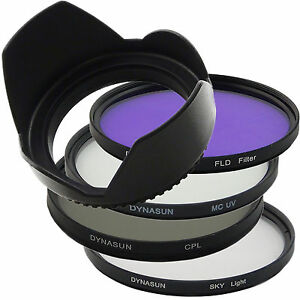 Set 67mm Multi Coated UV Filter DynaSun 67 + CPL + Sky +Fluorescent +Tulip