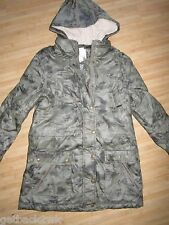 NEW* Billabong Ladies S PARKA ANORAK Winter COAT JACKET TOP Green Tan