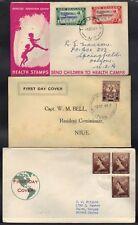 AUSTRALIA-NEW ZEALAND SAMOA, TOKELAU 1940-50'S 6 FDC'S
