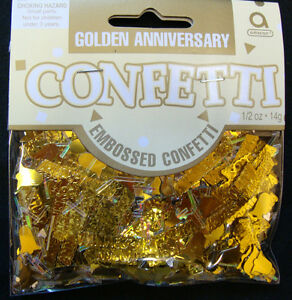 Golden Wedding table Confetti 50th Anniversary Sprinkles table Decorations