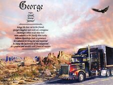 """""""Truck2"""" Name Meaning Prints Personalized (Semi)"""