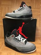 RARE🔥 Nike Air Jordan 3 III Retro Stealth Red Black Whit Sz 13 136064-003 Men's