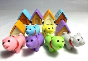Novelty Japanese IWAKO Animal Eraser Rubber - IWAKO Dog and Kennel Erasers