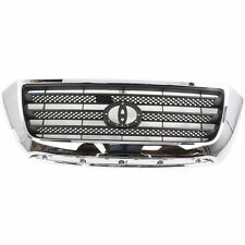 NEW GRILLE SILVER GRAY W/ CHROME FRAME FOR TOYOTA TUNDRA TO1200303