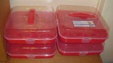 (Lot of 4) ~  Cupcake Plastic Carriers Container Reuseable- Muffin  BPA FREE