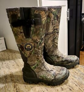 Red Wing Scent Ban Irish Setter Hunt Camo Rubber Boots. Mens Suze8
