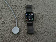 Apple Watch Series 5 44mm Case with MilaneseLoop - Stainless Steel w/Puck